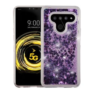 Airium   NLGV50HPCGT041WP Lg V50 Thinq - Airium Quicksand Glitter Hybrid Protector Cover - Purple