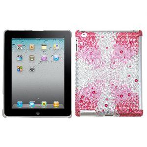Apple Ipad 2 / Ipad 4th Generation / New Ipad - Mybat Diamante Smartslim Gem Gradient Tablet Case - Pink Starburst