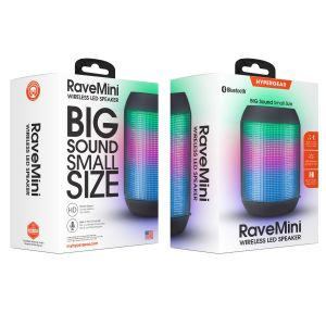 Hypergear Rave Mini Wireless Led Speaker - Black