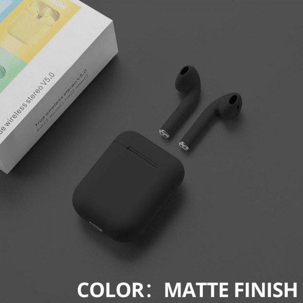 Bluetooth 5.0 True Wireless Earbuds Headset (Matte Black)