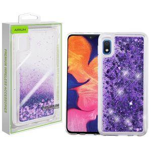 Samsung Galaxy A10e - Airium Glitter Hybrid Cover - Purple